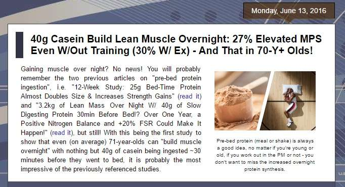 casein before bed