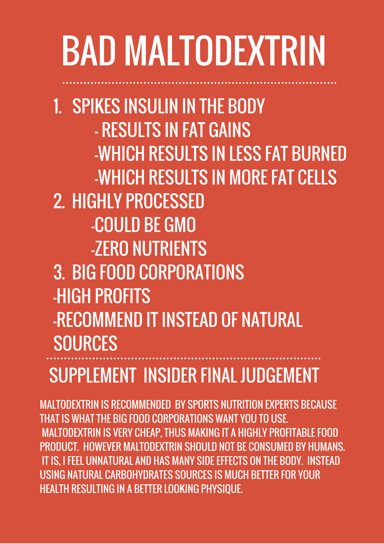 Why Maltodextrin Stinks | Why You Should Not Use It ...