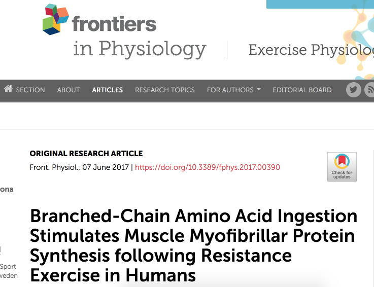 Frontiers | Branched-Chain Amino Acid Ingestion Stimulates Muscle Myofibrillar Protein Synthesis following Resistance Exercise … 2017-09-24 13-50-52