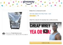 amazon giveaway protein