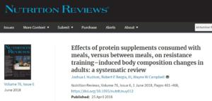 Can Taking A Protein Powder WITH Meals Increases More Muscle Mass?