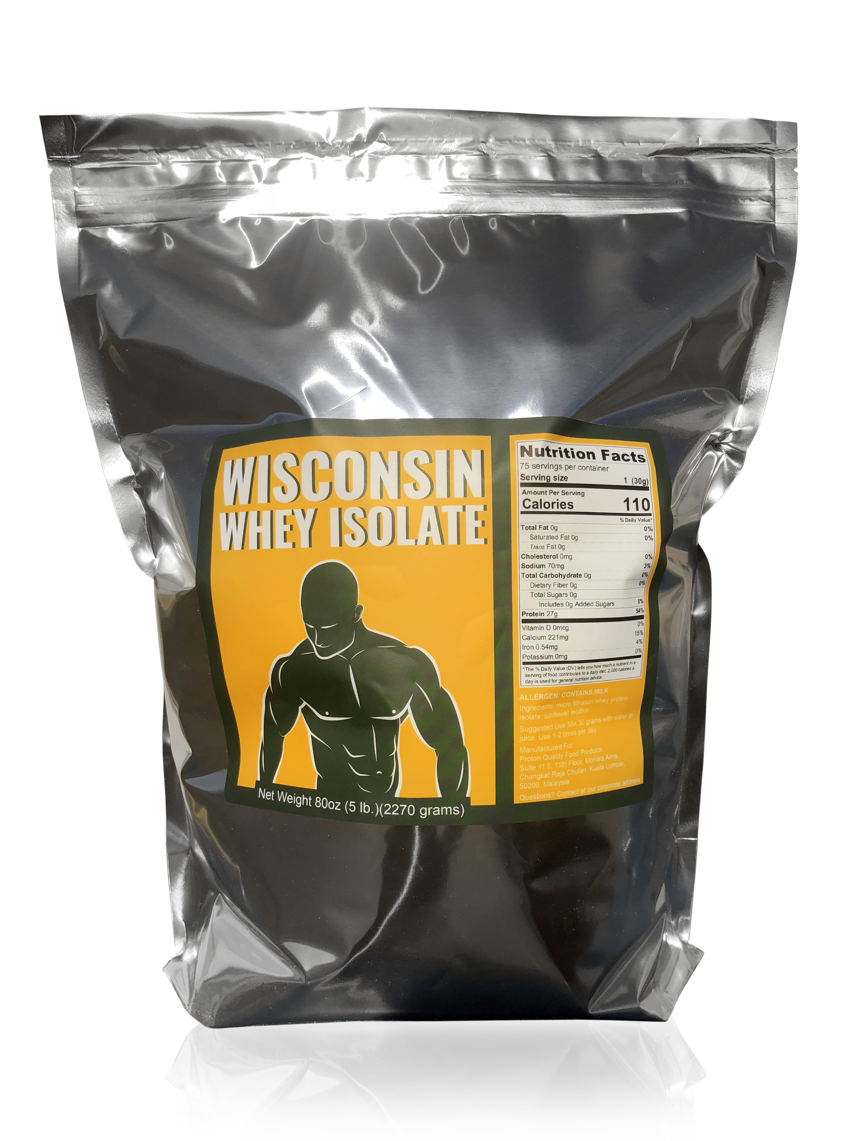 5 lbs Wisconsin Whey Protein Isolate Only $41.50 Lactose Free