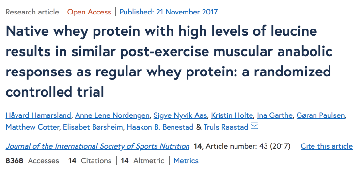native whey protein study