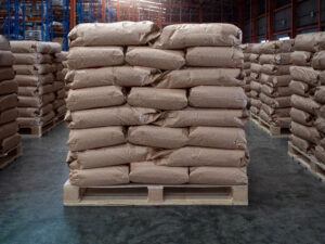 pallet of bulk whey protein powder